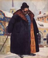 Купец в шубе (Б. Кустодиев, 1920 г.)