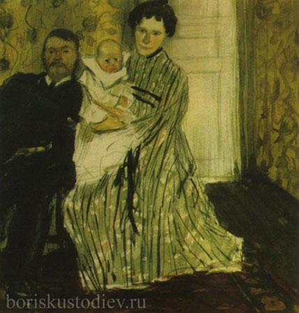 Семейный портрет. Эскиз (Кустодиев Б.М.)