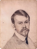 Автопортрет (Б. Кустодиев, 1902 г.)