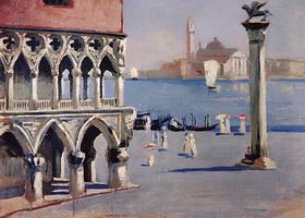 Венеция. Набережная канала Гранде с фидом на остов Сан-Джордже (Б. Кустодиев)