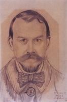 Автопортрет (Б. Кустодиев, 1918 г.)