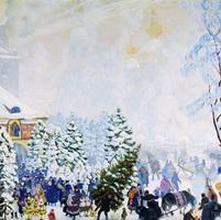 Елочный торг (Б. Кустодиев, 1918 г.)