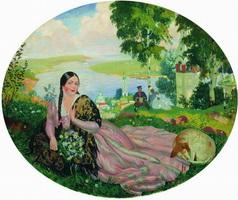 Девушка на Волге (Б. Кустодиев, 1919 г.)