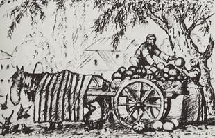 Татарин, торгующий арбузами (Б.М. Кустодиев, 1923-1924 г.)