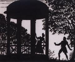 Свидание Владимира и Маши в саду (Б.М. Кустодиев, 1919 г.)