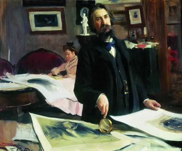 Портрет профессора гравирования В.В. Матэ.