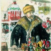 Автопортрет в шубе (Б. Кустодиев, 1912 г.)