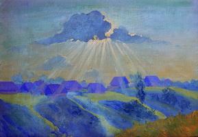 Закат (Б. Кустодиев, конец 1900-х гг.)