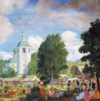 Сельская ярмарка (Б.М. Кустодиев, 1920 г.)
