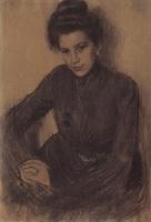 Портрет З.Е. Прошинской (Б.М. Кустодиев, 1901 г.)