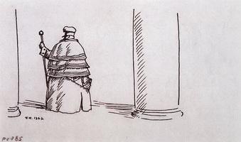 Швейцар (Б.М. Кустодиев, 1922 г.)