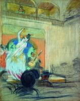 Танцовщица в кабаре (Б.М. Кустодиев, 1904 г.)