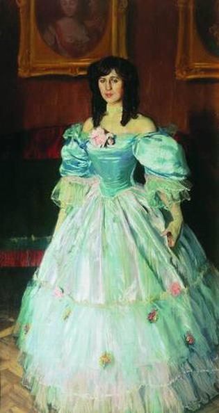 Портрет женщины в голубом (Портрет П. М. Судковской).