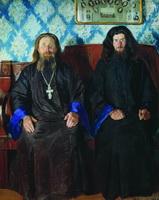 Портрет священника и дьякона (Б.М. Кустодиев, 1907 г.)