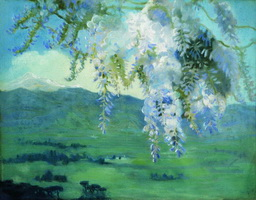 Цветущая глициния (Б.М. Кустодиев, 1912 г.)