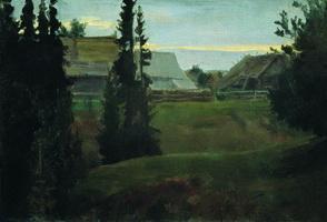 Деревня Маурино Костромской губернии (Б. Кустодиев, 1905 г.)