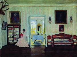 Дом в Успенском (Б. Кустодиев, 1908 г.)