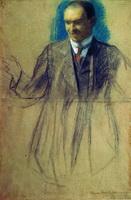 Портрет К.С. Петрова-Водкина (Б.М. Кустодиев, 1905 г.)