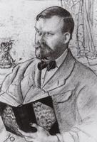 Автопортрет с книгой (Б. Кустодиев, 1920 г.)