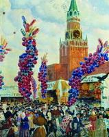Вербный торг у Спасских ворот (Б. Кустодиев, 1917 г.)