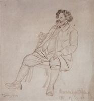 Портрет М.А. Волошина (Б.М. Кустодиев, 1924 г.)