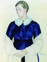 Портрет Елизаветы Михайловны Боткиной (Б.М. Кустодиев, 1912 г.)