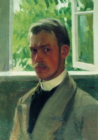 Автопортрет у окна (Б. Кустодиев, 1899 г.)
