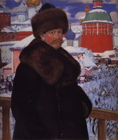 Автопортрет (Б. Кустодиев, 1912 г.)