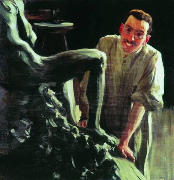 Портрет скульптора и живописца Д. С. Стеллецкого.