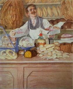 Булочник (из серии Русские типы, 1920 г.)