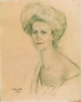 Портрет Т.Ф. Давыдовой (Б.М. Кустодиев, 1912 г.)