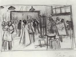 Эскиз к коллективной картине Постановка модели в мастерской И.Е. Репина (1899 г.)