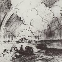Прогулка верхом (Б.М. Кустодиев, 1915 г.)
