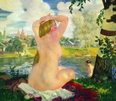 Купальщица (Б. Кустодиев, 1921 г.)