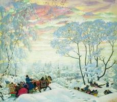 Зима (Б. Кустодиев, 1916 г.)