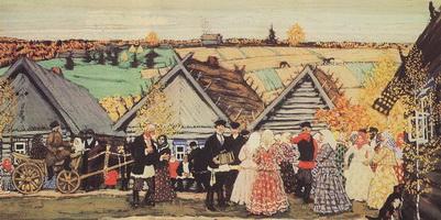 Праздник в деревне (Б.М. Кустодиев, 1907 г.)