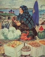 Торговка овощами (Б.М. Кустодиев, 1920 г.)