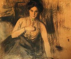 Портрет З.Е. Розе, урожд. Прошинской (Б.М. Кустодиев)