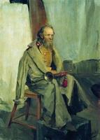 Натурщик в шинели (Б. Кустодиев, 1900 г.)