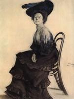 Портрет Е.А. Полевицкой (Б.М. Кустодиев, 1905 г.)