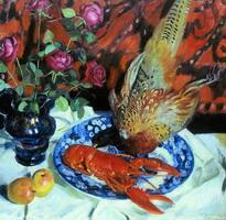 Натюрморт. Омар и фазан (Б. Кустодиев, 1912 г.)