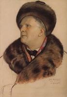 Портрет Ф.И. Шаляпина (Б.М. Кустодиев, 1921 г.)