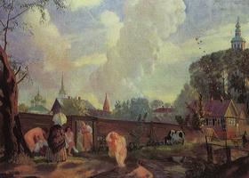 Купальщицы (Б. Кустодиев, 1917 г.)