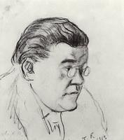 Портрет И.М. Москвина (Б.М. Кустодиев, 1914 г.)