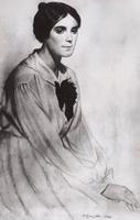 Женский портрет (Б. Кустодиев, 1920 г.)