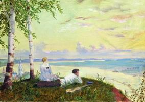На Волге (Б. Кустодиев, 1922 г.)
