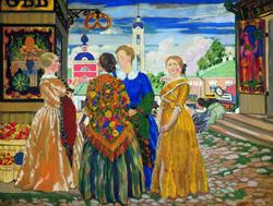 Купчихи (Б. Кустодиев, 1912 г.)