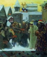 Выход царя Ивана Грозного (Б. Кустодиев, 1900 г.)