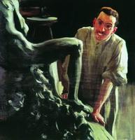 Портрет скульптора и живописца Д.С. Стеллецкого (Б.М. Кустодиев, 1901 г.)
