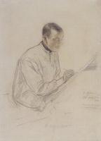 Портрет Д.С. Стеллецкого за работой (Б.М. Кустодиев, 1900 г.)